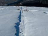 Wind-shaped trail