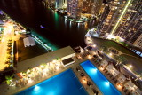 Downtown Miami with the pool at Epic Hotel
