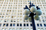Lamp post on Michigan Ave., Chicago