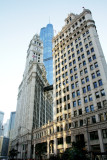 Wrigley Building with the Trump Tower, Chicago