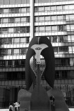 Chicago Picasso by Pablo Picasso, Daley Center, Chicago, Black and White