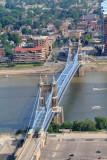 John A. Roebling Suspension Bridge, View from Carew Tower, Cincinnati, Ohio