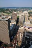 Downtown Cincinnati, View from Carew Tower, Cincinnati, Ohio