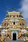 Pazhamudhircholai tower facade, Madurai, India
