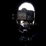 Filming Great Snipe in my hide