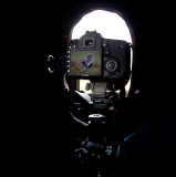 Filming Great Snipe with Eos-7D in my hide in Norway