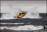 Rescue boat Väringen going out from Grönhögen harbour in SW wind 10 m/s