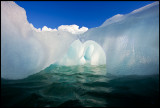 Kissing ice  formation in Björnfjorden
