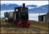 The old train at Ny-Ålesund harbour