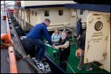 Heiko, Merel and Robert loading Origo with food