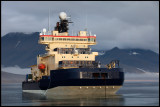 Swedish icebreaker Oden at Longyearbyen (just been on a mission at NE Greeland)