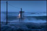 Gåva lighthouse at Hönö at  26 m/s constant SW wind