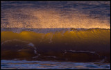 Sunset light on a wave - Grönhögen Öland