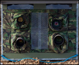Ruff hide. Left side Nikkor 200-400/4 VRII & 500/4 - Right side Canon EF 400/2,8 L iS & EF 800/5,6 L IS