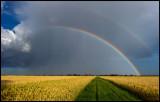 Double rainbow over Pilekulla (Södra Möckleby)