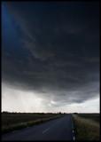 Driving under a thunder cloud near Södra Möckleby - Öland