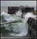There is often big waves at Grönhögen pier when it is windy
