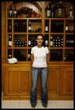 Our nice waitress in Hoyos del Espino