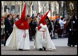 Easter procession on Calle de Bailèn outside Palacio real