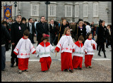 Children participating in the Easter procession
