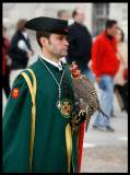 Falconer in Easter procession