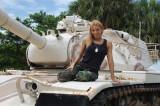 Amy Vitale on tank