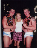 Amy Vitale and Wrestlers