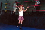 Amy Vitale in wrestling action
