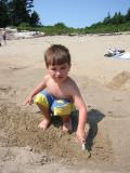 Not having fun at the beach