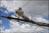Sail on a ship docked in Curacao...The Insulinde