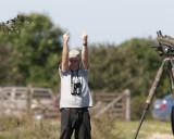 Mikael Nord twitching Long-legged Buzzard at Skoge Gotland