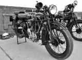 Sunbeam motorcycle on Douglas Prom