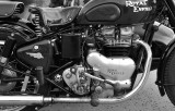 Royal Enfield with sidecar, engine detail!