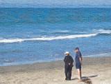 Couple Sharing the Beach