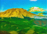 Mount St. Helens and Ranier