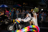 The Dykes on bikes always lead the procession