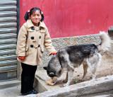 Gabriella and her husky friend