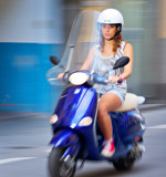 Blue Moped