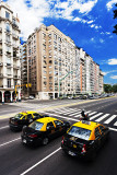 Three Yellow Taxis