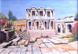 VERKOCHT Bibliotheek oud Efeze olieverf - 0727.jpg