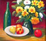 NIET BESCHIKBAAR - Boeket met fruit (olieverf) - 0745.jpg