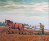 De boer - hij ploegde voort (olieverf) - 0725.jpg