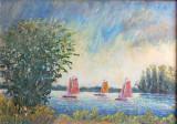 NIET BESCHIKBAAR - Zeilbootjes op de Belterwijde (olieverf) - 0724.jpg