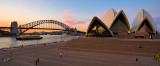 Opera House, Harbour and Bridge sunset panorama