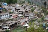 Mountain village in Annapurna valley
