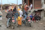 Bikers bringing Indian pilgrims to Muktinath