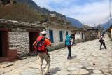 Walking trough a Annapurna village