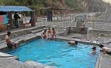 enjoying the natural hot pool