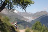 A view to the Aletsch Glacier (Valais)