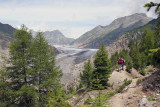 View to the Aletsch Glacier (Valais)